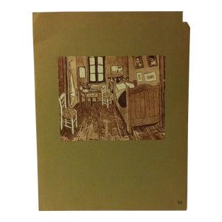 """Mounted Vintage Print on Paper """"Vincent's Bedroom - 1888"""" For Sale"""