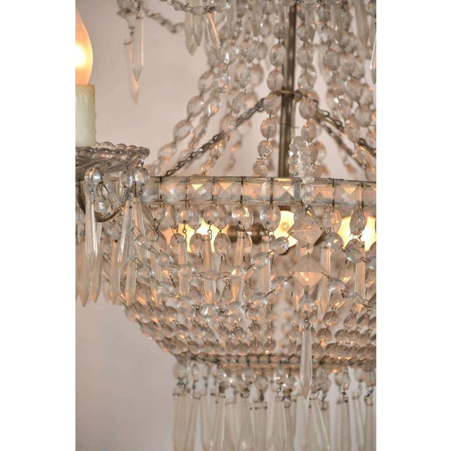 Late 19th Century Seven-Light Crystal Chandelier For Sale - Image 5 of 10
