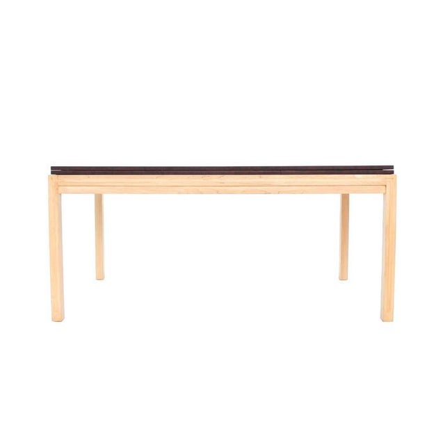 Wood Two tone Dining Table with Two Leaves For Sale - Image 7 of 9