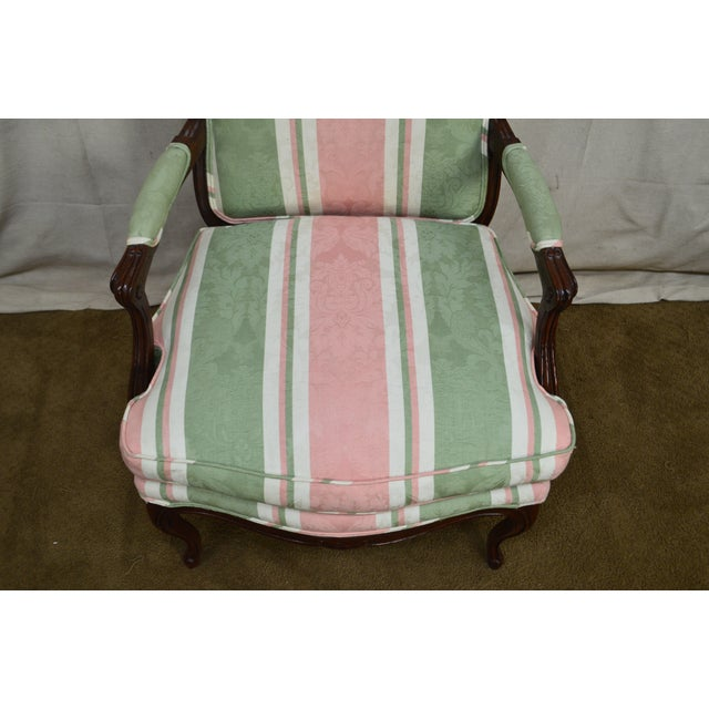 French French Louis XV Style Custom Quality Fauteuil Arm Chair For Sale - Image 3 of 13