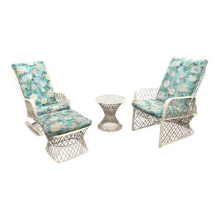 Mid-Century Russell Woodard Fiberglass Patio Set For Sale