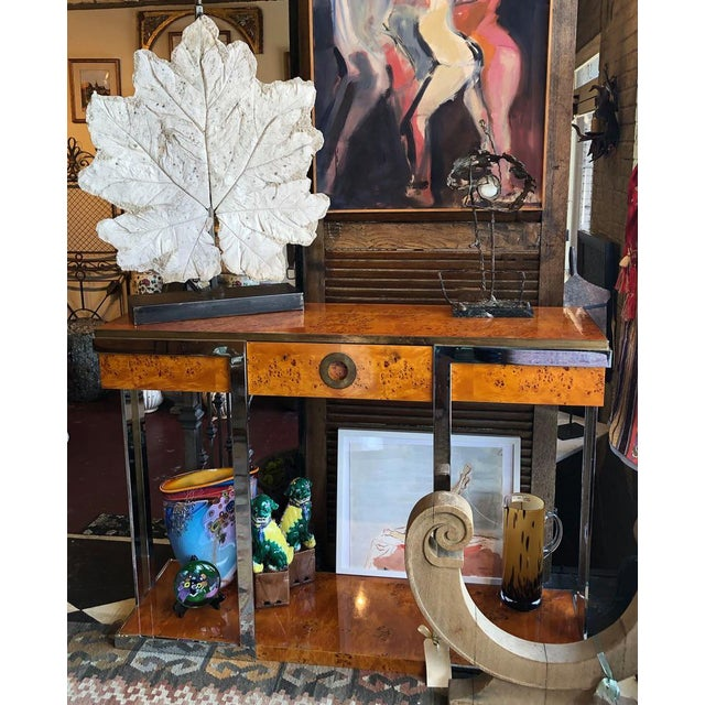 French Lamp With Vintage Plaster Leaf For Sale In Dallas - Image 6 of 8