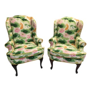 1960s Vinage Palm Beach Wingbacks- Pair For Sale