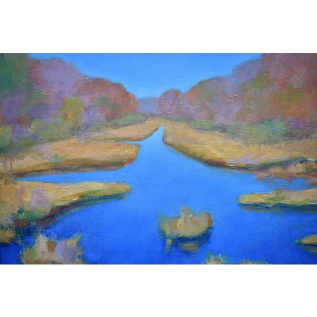 """Paint Contemporary Landscape Painting by Stephen Remick """"Autumn at the Marsh"""" For Sale - Image 7 of 13"""