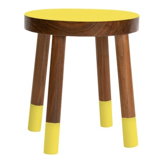 Poco Kids Chair in Walnut With Yellow Finish For Sale