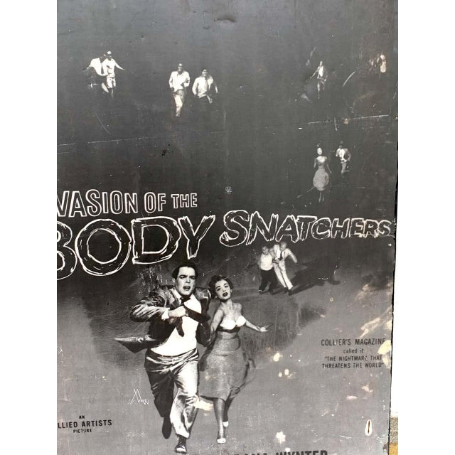 American Invasion of the Body Snatchers, Black & White Movie Theatre Poster, 1956 For Sale - Image 3 of 13