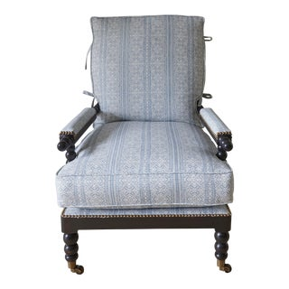 Spool Turned Chair Upholstered With Casa by P.C. Fabric For Sale
