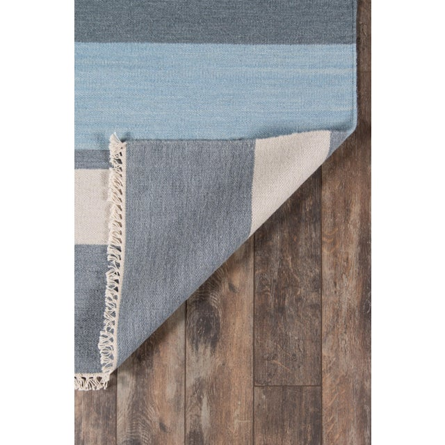 "Contemporary Erin Gates Thompson Brant Point Blue Hand Woven Wool Runner 2'3"" X 8' For Sale - Image 3 of 5"