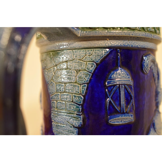 Blue Vintage German Beir Stein For Sale - Image 8 of 11