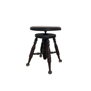 Early 20th Century Victorian Claw Stool For Sale