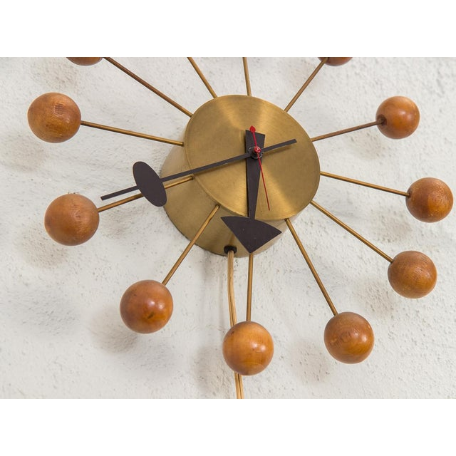 Brass 1950s George Nelson for George Nelson Associates Original Ball Clock For Sale - Image 7 of 9