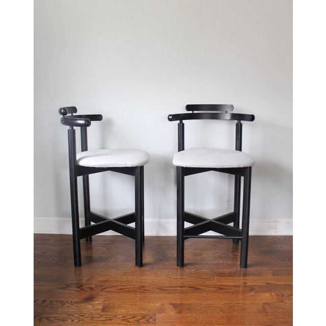 Mid-Century Modern Gangso Mobler Bar Stools - A Pair - Image 3 of 5