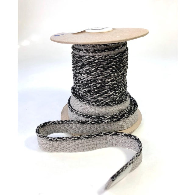 """Braided 1/8"""" Indoor-Outdoor Gray Cord Trim For Sale - Image 9 of 9"""