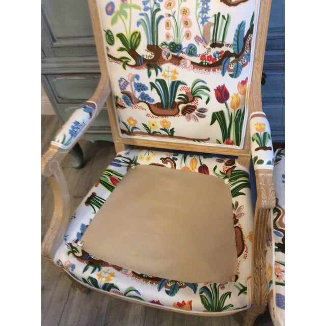 1980s Vintage Swedish/French Bergere Style Chair For Sale - Image 10 of 12