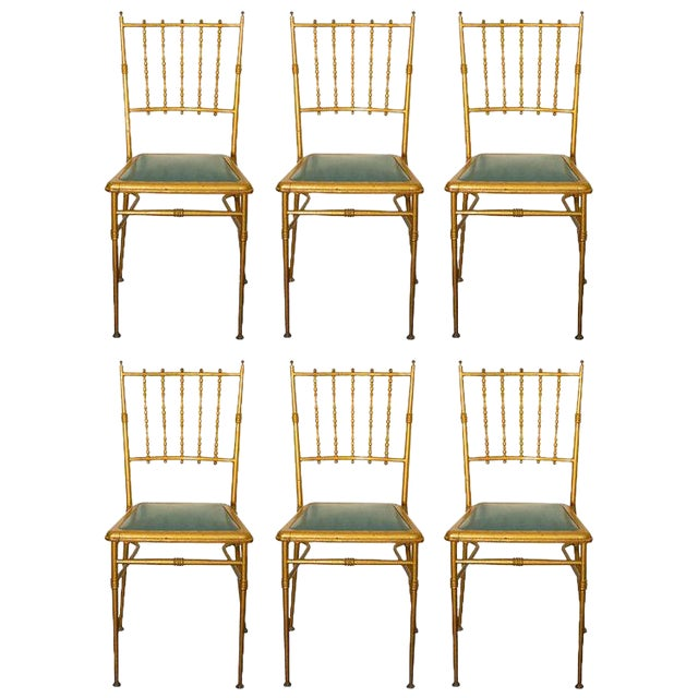 Metal Chiavari Chairs - Set of 6 For Sale