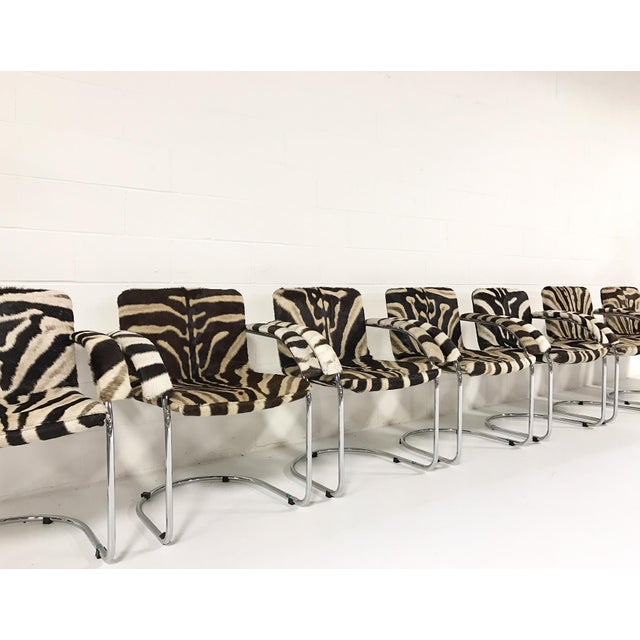 Giovanni Offredi for Saporiti Lens Chairs in Zebra - Set of 8 - Image 3 of 11