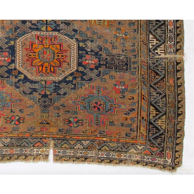 Antique Persian Sumak Kilim Rug- 5′ × 7′2″ - Image 4 of 6