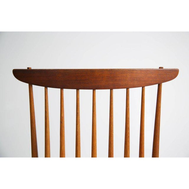 "George Nakashima ""New"" Chairs, Set of Eight, Authenticated 1960s Production For Sale - Image 12 of 13"