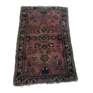 Antique 1920s Traditional Worn Rug - 2′6″ × 3′10″ For Sale