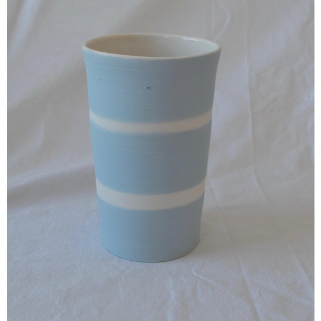 Contemporary Ceramic Striped Cylindrical Vessels - Group of 6 For Sale In New York - Image 6 of 11
