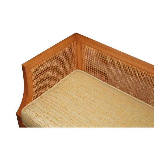 Customizable Viktor Caned Maple Bench For Sale - Image 4 of 9