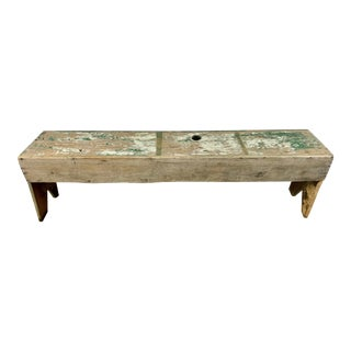 19th C. Swedish Painted Work Style Bench For Sale