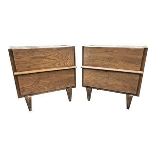 1960s Mid-Century Modern American of Martinsville Nightstands - a Pair For Sale