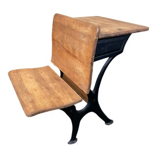 Early 20th Century School Desk For Sale