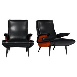 Image of Black Bergere Chairs