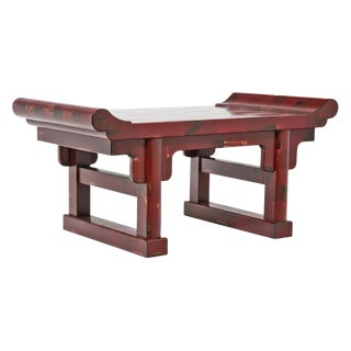 Chinese Red Lacquer Stand For Sale