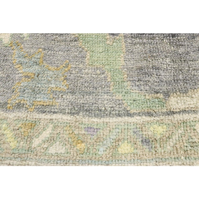 Contemporary Turkish Oushak Rug With Pastel Colors - 12'05 X 17'01 For Sale - Image 4 of 9