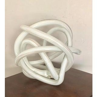 Gigantic Luxury Gilt White Art Glass Knot Preview