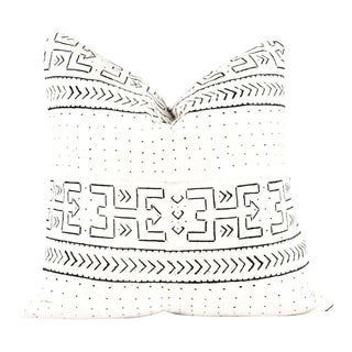 Wild Ivory Tribal Mudcloth Pillow For Sale