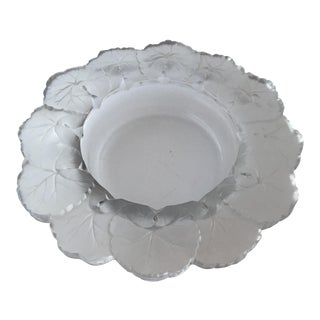 "Lalique Crystal 8.5"" Large Honfleur Bowl For Sale"