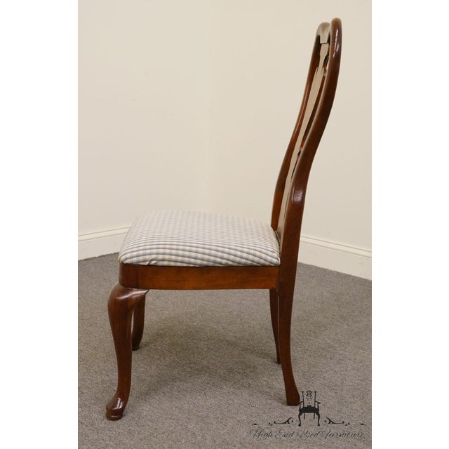 Late 20th Century Late 20th Century Vintage Thomasville Furniture Collectors Cherry Queen Anne Style Dining Side Chair For Sale - Image 5 of 10