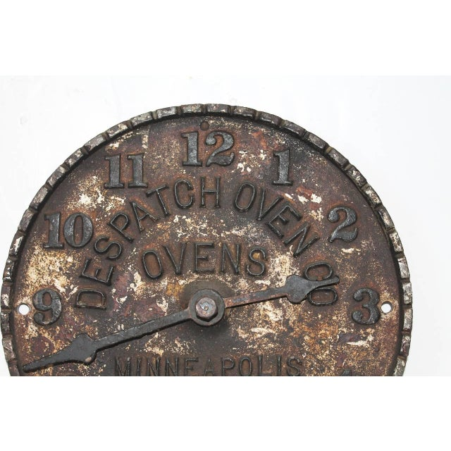 Despatch Oven Co., Minneapolis, Minnesota Advertising Clock Face For Sale In Los Angeles - Image 6 of 6
