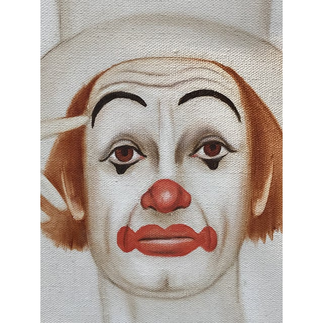 Original 20th Century Tangerine Clown Painting For Sale - Image 4 of 8