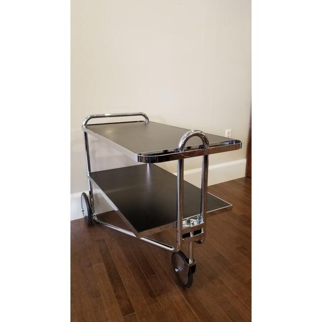 Chrome Marcel Bruer Bar Trolley For Sale - Image 7 of 10