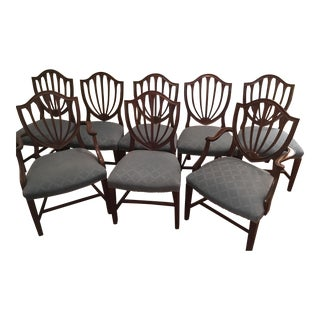 Biggs Shield Back Sheraton Dining Chairs - Set of 8