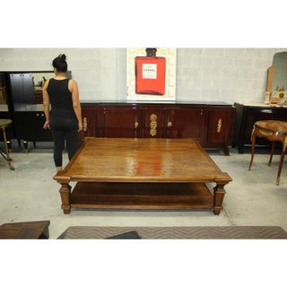 1900s French Country Solid Walnut Coffee Table Preview