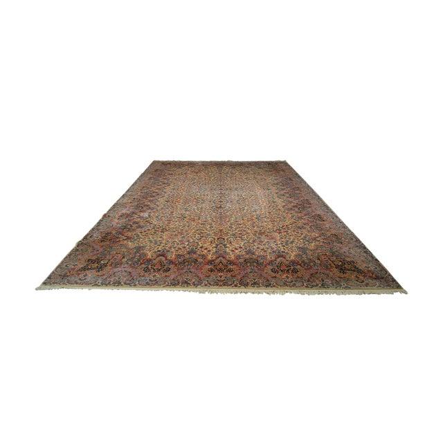 Karastan 10'x16' Kirman Vintage Large Room Size Carpet Rug #759 For Sale