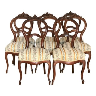 Louis XV Carved Mahogany Balloon Chairs – Set of 8