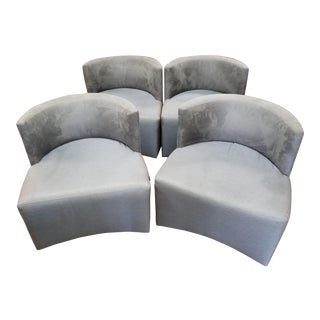Art Deco Gray Club Chairs - Set of 4 For Sale