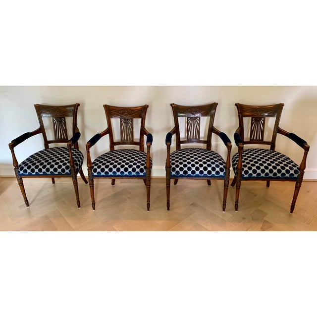 Late 18th Century Vintage French Armchairs- Set of 4 For Sale - Image 11 of 11
