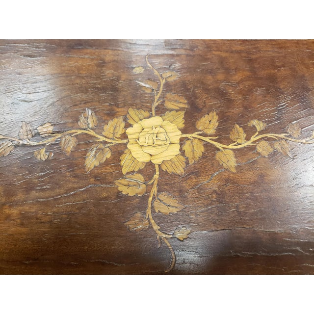 Antique 19th Century Inlaid Wooden Dressing/Vanity Table For Sale - Image 10 of 13