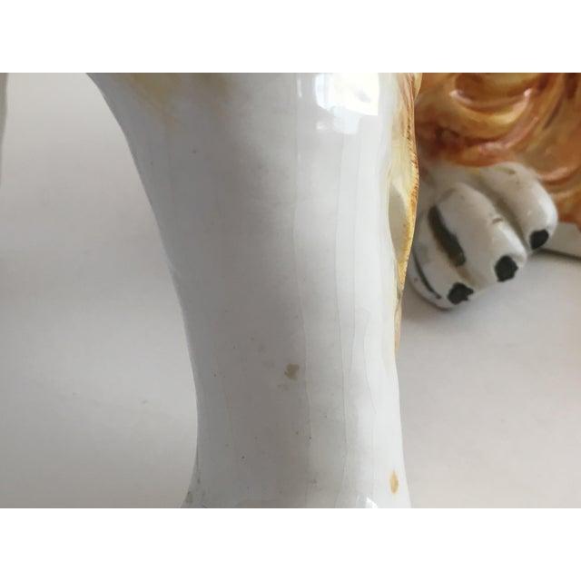 Italian Ceramic Collie Statue For Sale - Image 6 of 9