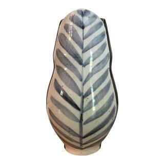 Tulip-Shaped Stoneware Vase For Sale