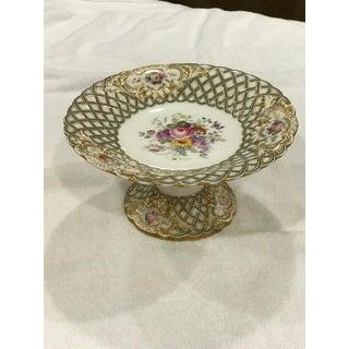 20th Century Antique Dessert Pedestal Platter Preview