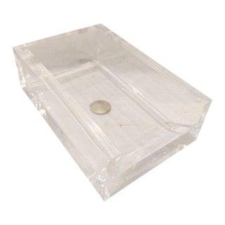 Vintage Guzzini Lucite Desk Paper Holder For Sale