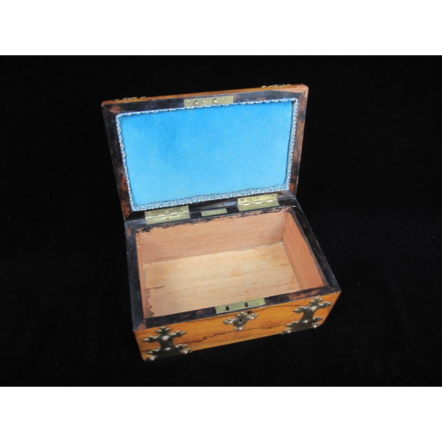 Mid 19th Century 19th Century Antique Coromandel Ebony & Wedgwood Basaltware Sewing Box For Sale - Image 5 of 7
